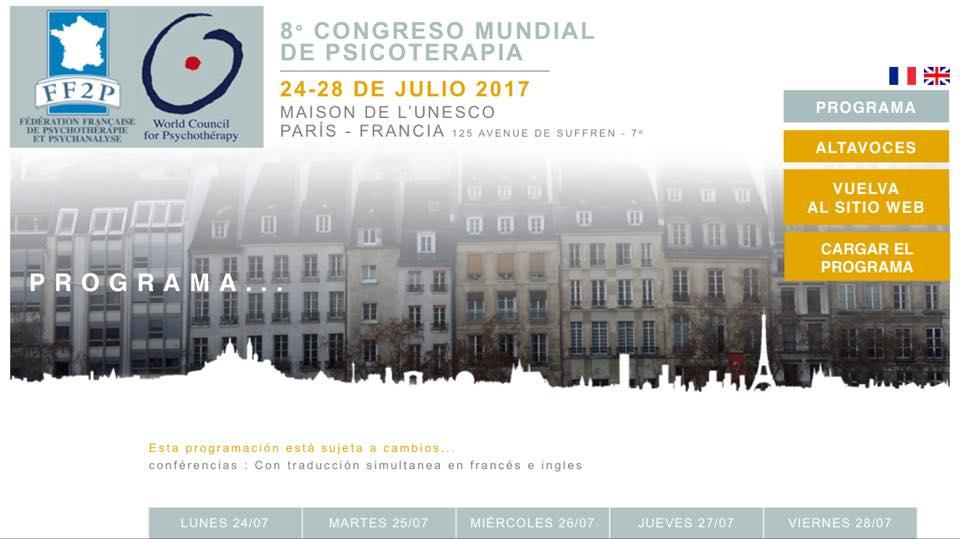 Armando García, en el Congreso Mundial de Psicoterapia de París