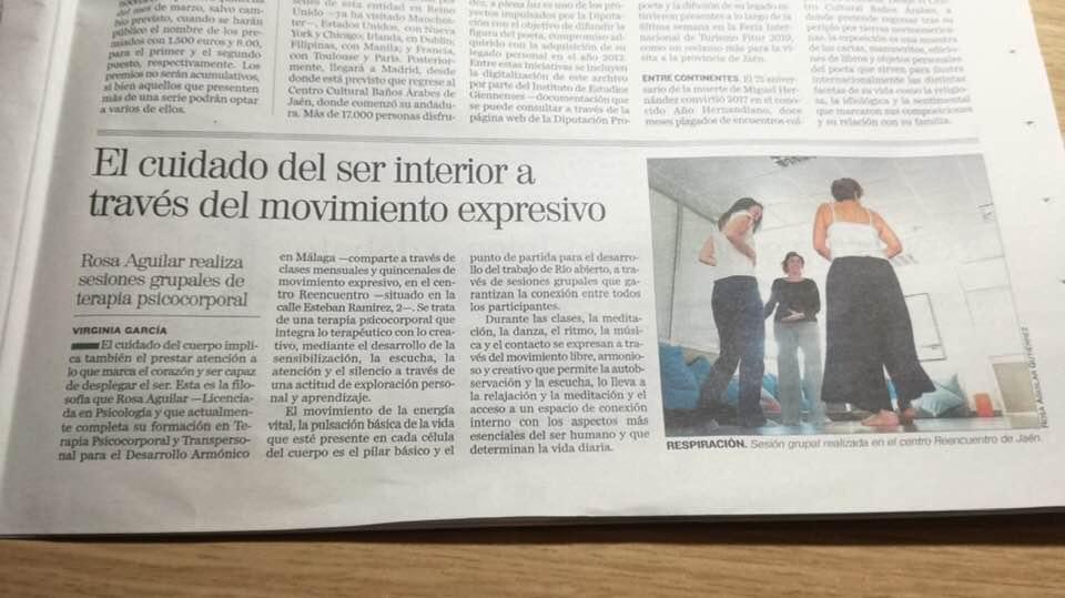 Río Abierto en Diario de Jaen, a cinco columnas