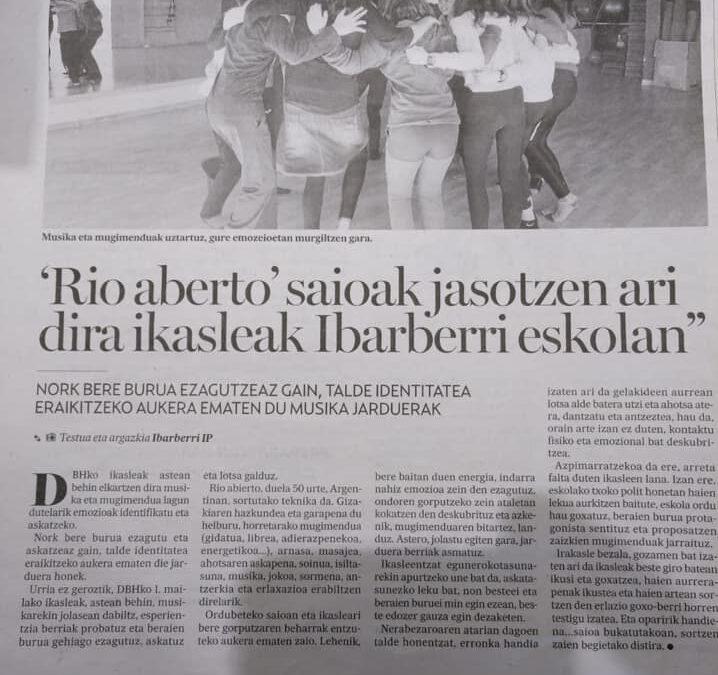 La escuela de Lekumberri (Navarra), por el movimiento y la integración